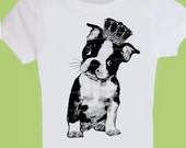 Royal Boston Terrier Puppy Baby to Adult One Piece Baby,Bodysuit,Tank or Tee by ChiTownBoutique.etsy