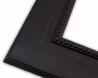 Southampton Black Picture Frame, Large Wide Custom Frame, Wedding Frame, Hand Painted, Home Decor, Nursery Frame, 16x20, 8x10, 5x7, 4x6