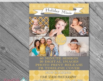 INSTANT DOWNLOAD - Silver and Gold Marketing Board 5- custom 5x7 photo template