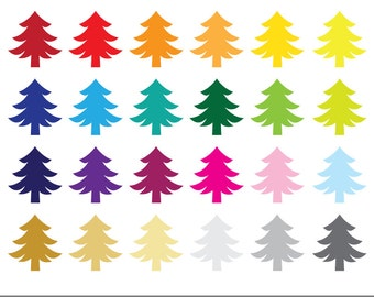 Christmas Tree | Xmas Clipart | Instant Download | Digital Clip Art
