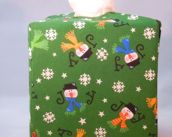 Ready To Ship -  Christmas Holiday Tissue Box Cover   - Tissue Box Cover