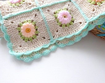 Unique Crochet Handmade Baby Blanket design by Arzu,