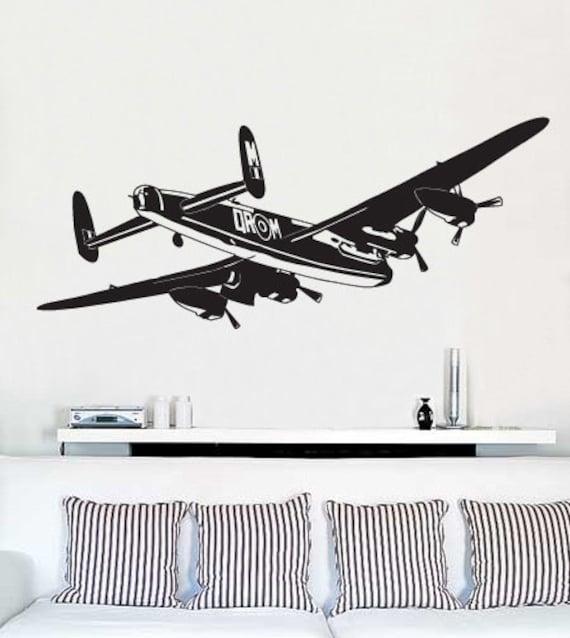 Vinyl Wall Decal Sticker World War II Bomber AirPlane