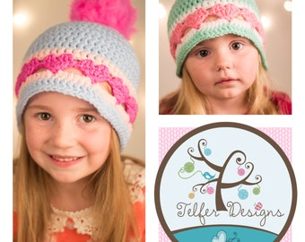 Little sweetheart hat crochet pattern