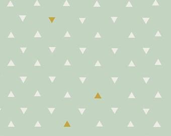Mint Gold Baby Bedding - Crib Sheet or Changing Pad Cover / Standard or Mini Crib Sheet /  Metallic Gold Triangle Crib Sheet