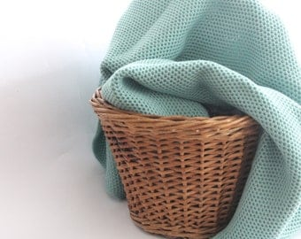 Baby blanket Knit Baby afghan Gift for New Baby Baptism accessory Baby shower gift Swaddle Blanket Mint green