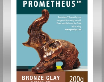Prometheus Bronze Metal Clay, Torch firable, no carbon required, no kiln required