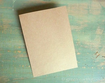 "50 A2 Flat Kraft Cards: Rustic Flat Cards, Kraft Brown Grocery Bag, eco-friendly, 4.25"" x 5.5"" (108x140mm) 65lb, 80lb, 100lb, 105lb or 146lb"