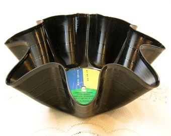Elton John Record Bowl Made From Repurposed Vinyl Abum
