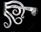 Silver Wedding Bracelet, Fork Jewelry, Eco Friendly, Bridesmaid Gift, in Original Curly Design Number Five