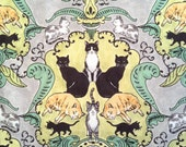 Cats and Kittens Linen Cotton Kitchen Towel