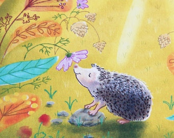 The Hedgehog's Garden Print of Original Illustration