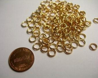 Split rings - light copper gold - 200 pcs -  6mm - S21