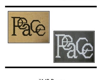 PDF E pattern emailed PEACE Cross Stitch Pattern Sampler 149
