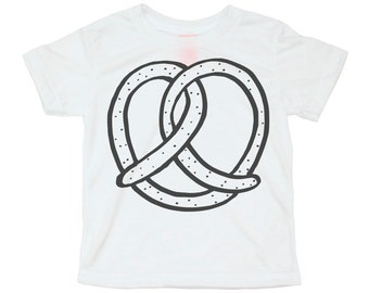 Pretzel Kids Tee, Toddler Tshirt, Hipster Kids Clothes, Kids Illustration, Strawberry Moth, Kids Gift, Hip Kids Shirt, Screenprinted Shirt