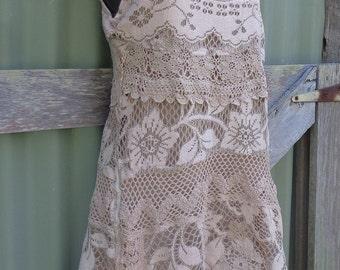 baroque hippy lace dress, xxs, xs