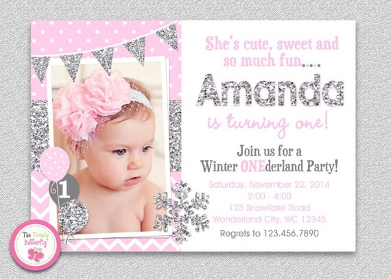 Winter Wonderland Birthday Invitation Winter Wonderland – Snowflake Birthday Invitations