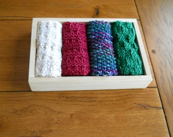 Washcloth or Facecloth, Dishcloth Set of 4  as a Gift Set for the Christmas Season
