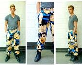 Vtg Mens Sweatpants- Fred Flintstone, Graphic, Hipster, Baggy, Deadstock