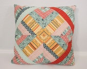 "Throw Pillow - Accent Pillow - Pieced Pillow Cover - Basic Grey PB&J - 18"" Pillow Cover"