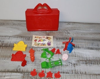 1988 McDonald's Lunch Box with Vintage Happy Meal Toys