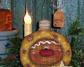 Primitive Patti's Ratties Original Christmas Gingerbread Tree Ornie Pattern 523