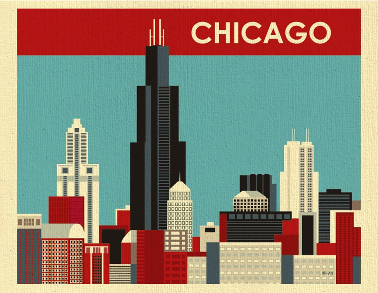chicago skyline art - photo #17