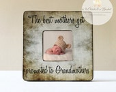 The Best Mothers Get Promoted To Grandmother Personalized Picture Frame, Mom Gift, Mum Gift, Grandma Frame