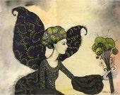 Butterfly Girl  - Original Illustration