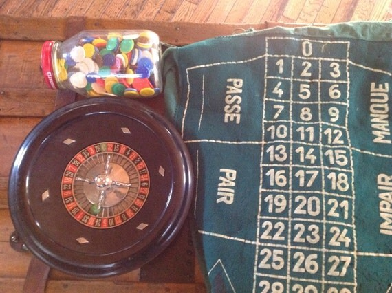 vintage german roulette game. Black Bedroom Furniture Sets. Home Design Ideas