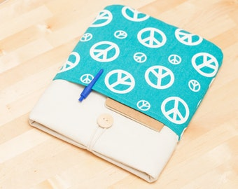 iPad case / iPad Air sleeve / iPad cover / iPad air 2 sleeve, iPad pro cover,  padded  - peace