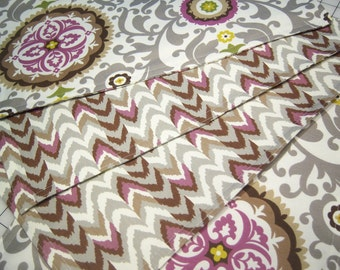 Sale Placemats Set Napkin Set Living Color Celestial Sun Waverly Fabric Grey Lilac Purple