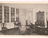 Virginia Postcard Mount Vernon Souvenir- Mount Vernon Library - Mt. Vernon Ladies' Association - Old Virginia Collectible