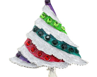 Multicolor Christmas Tree Pin Brooch 1001273
