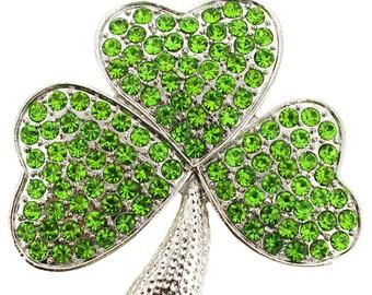 Green Clover Pin Brooch 1003561