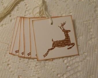 Reindeer Christmas/Holiday Tags