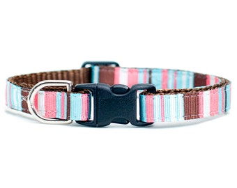 "Cat Collar - ""The Teacher"" - Multi-Colored Stripes"