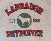 Womans T Shirt Labrador Retriever Dog Puff Art Applique Dog Print 17416