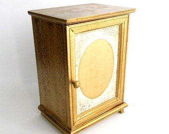 Vintage Florentine Jewelry Box - Gold Gilt Chest - Carved Detail - Trinket Box - Keepsake Storage
