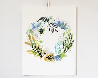 Health Wreath Print