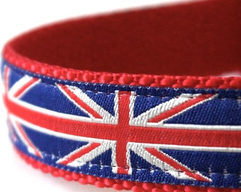 British Flag Dog Collar, Union Jack Dog Collar, London Dog Collar