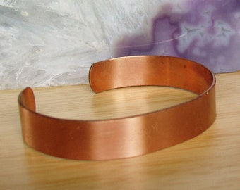 Vintage Solid Copper Cuff Bracelet from the 70's