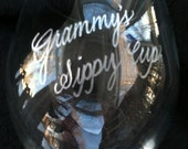 Sippy Cup for Grownups Hand Engraved Stemless Wine Glass - Grammy Grandma Mommy