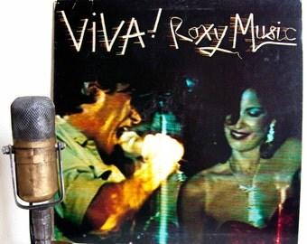 "Roxy Music (with Bryan Ferry) Vinyl Record LP 1970s Glam Rock and Roll ""Viva! Roxy Music - The Live Roxy Music Album""(1976 Atco Records)"