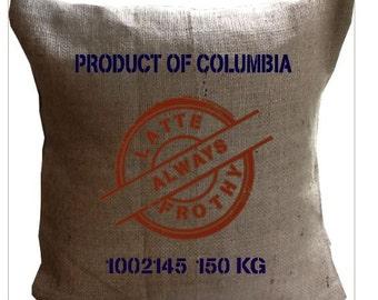 Personalised Hessian Coffee Cushions