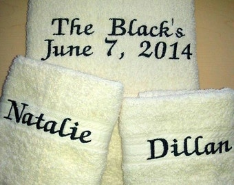 Personalized Wedding Towel Sets