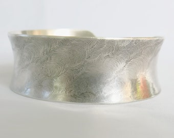Anticlastic Sterling Silver Cuff Bracelet