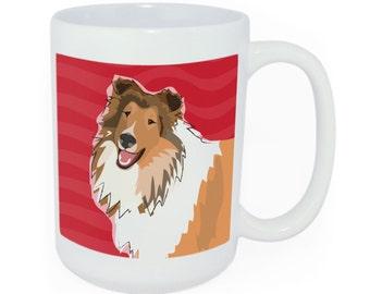 Collie Tea and Coffee Mug - Time to Walk the Dog Mug - Funny Dog Coffee Mugs Collie Gifts