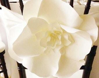10 Large Paper Flowers - Decorative Chair - Aisle Decor Paper Flower