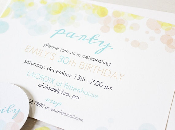 Watercolor Party Invites